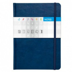 Notes Saturn A5 linkovaný - modrý