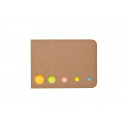 BUCON - 5 barev lepících papírků v natur obalu. Rozměr papírků:...