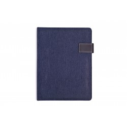 Modré designové portfolio(konferenční desky) s magnetickým zapínáním, včetně poznámkové knihy...
