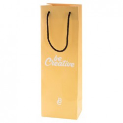 Papírová nákupní taška na zakázku s polypropylenovými uchy. Možnost tisku ve CMYK nebo až 5ti Pantone barvách....